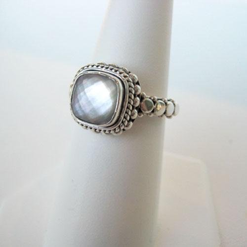 sterling silver crystal quartz ring