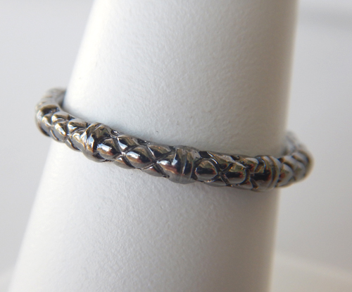sterling silver black plated band