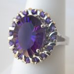 white gold amethyst fashion ring