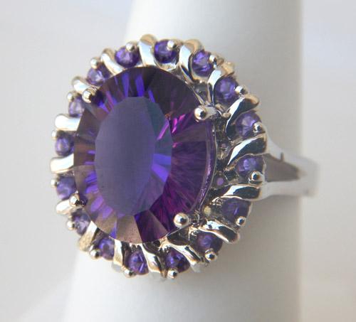 white gold amethyst fashion ring