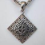 sterling silver filigree pendant