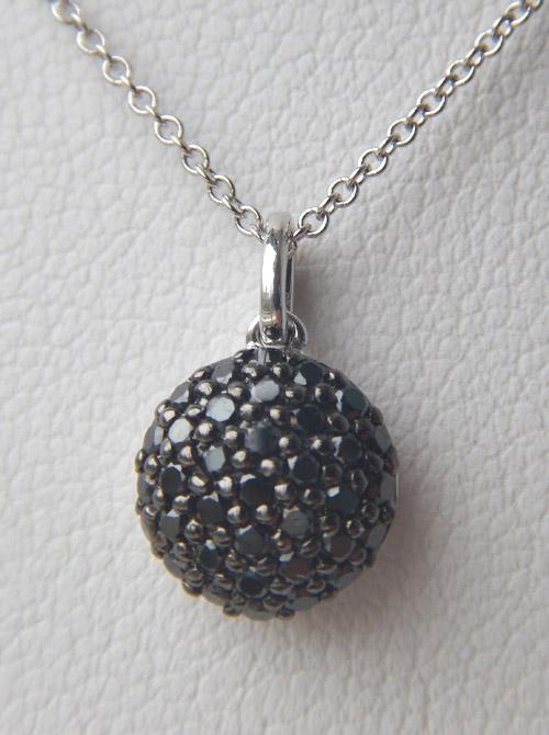 black diamond cluster pendant