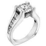 channel set diamond engagement ring