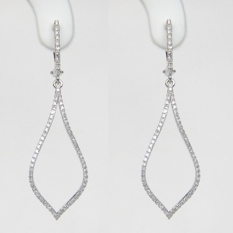 white gold diamond silhouette earrings