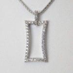 white gold diamond silhouette pendant
