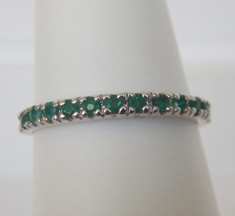 white gold emerald band
