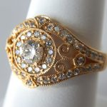 yellow gold diamond antique ring