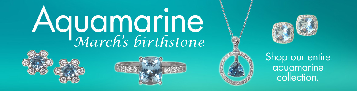 We offer a variety of aquamarine jewelry.