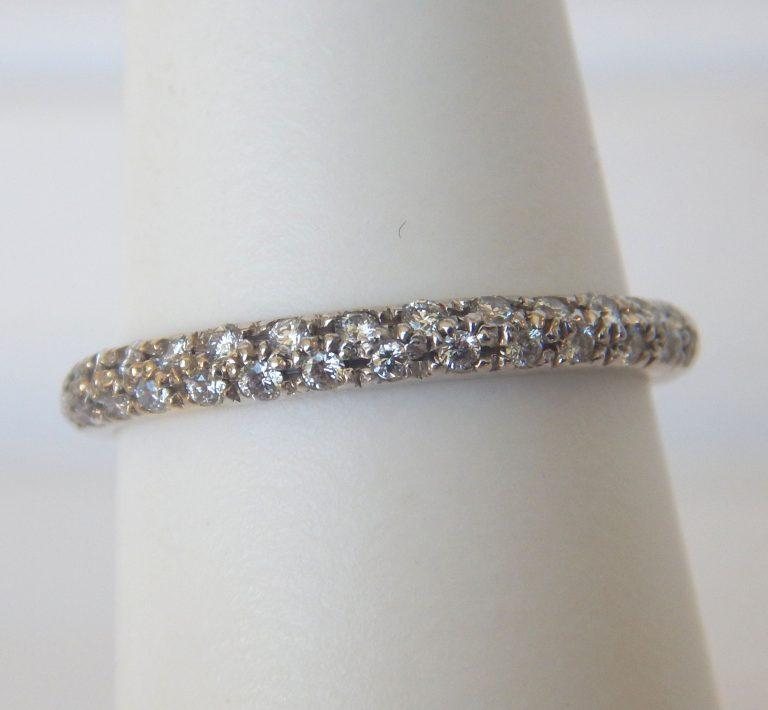 white gold pave set diamond band