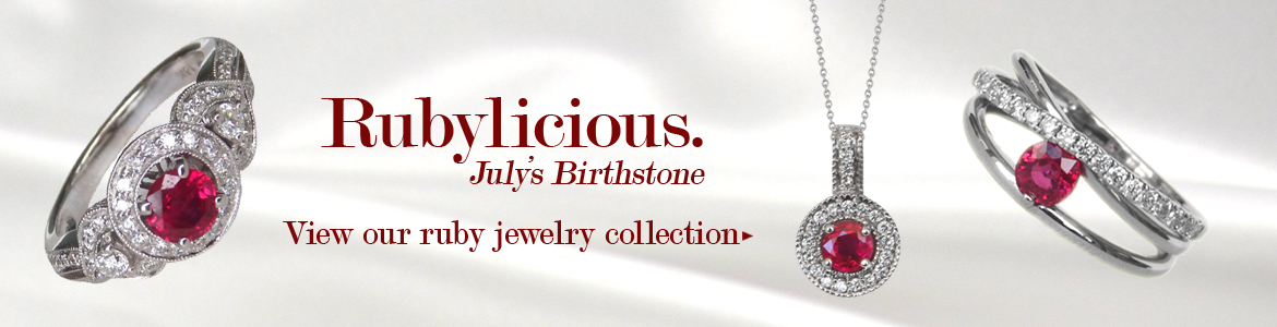 Kloiber Jewelers offers a variety of ruby jewelry.