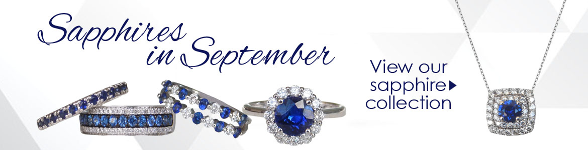 Kloiber Jewelers offers a variety of sapphire jewelry.