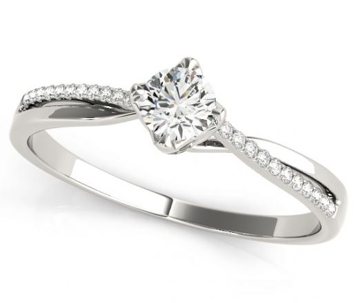 twisted shank engagement ring