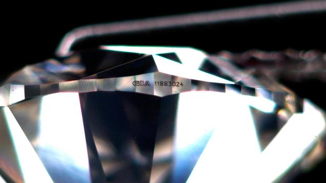 Laser Inscribed Diamond