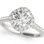 diamond halo engagement ring