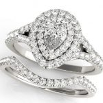 engagement ring and matching wedding band