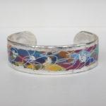 colorful silver cuff bracelet