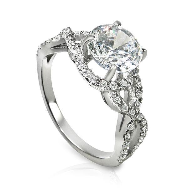 twisted shank diamond engagement ring