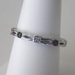 black and white diamond band sterling silver