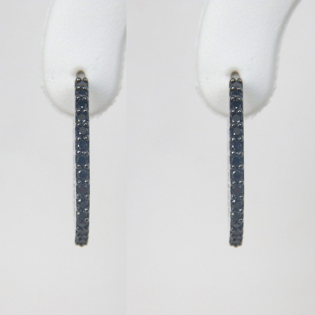 20e52725fdda0 Black Diamond Hoop Earrings
