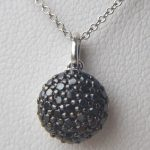 black diamond cluster pendant