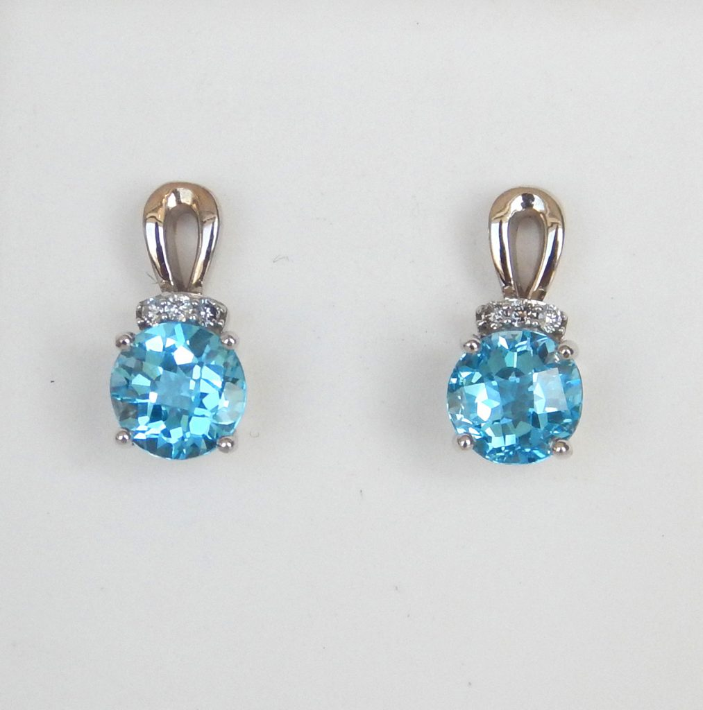 jewellery kc topaz and jewelry earrings cushion classic diamond kiki bt wg drop product blue