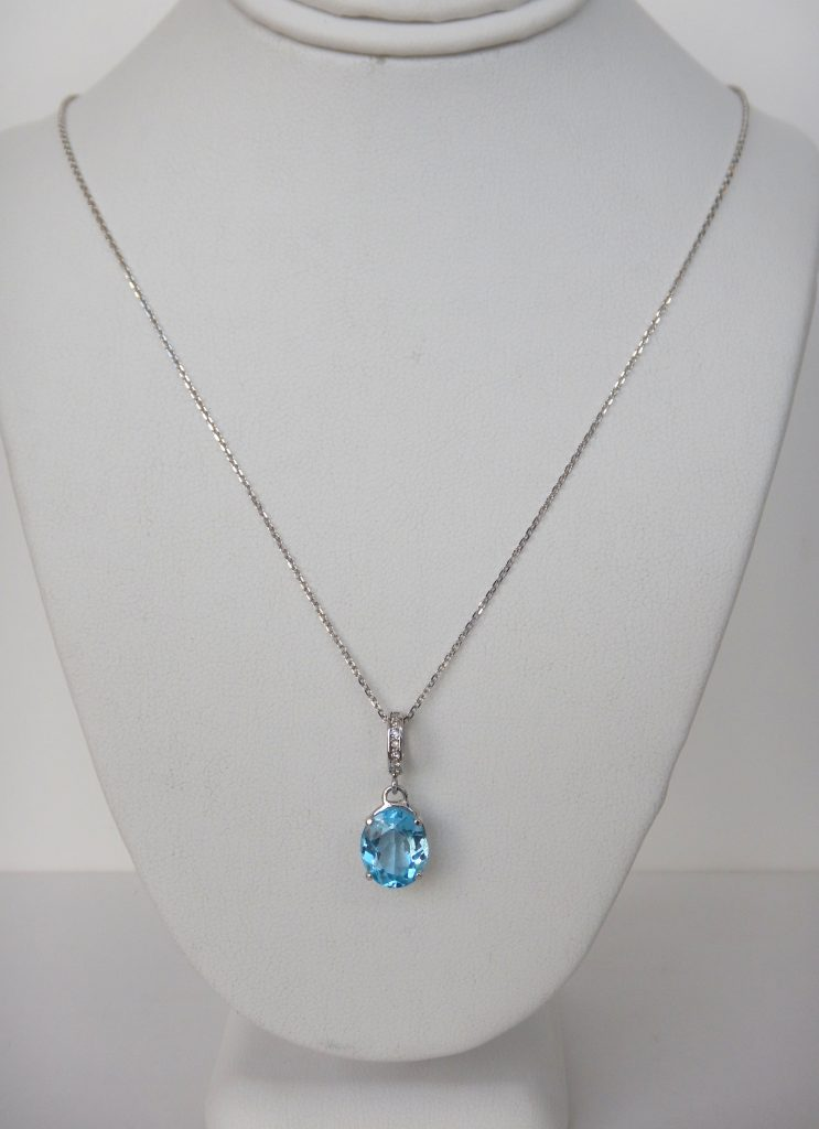 jewellery zanfeld necklace blue topaz shop necklaces sterling silver long