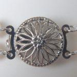close up of pearl bracelet