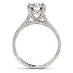 side view of diamond accented engagement ring