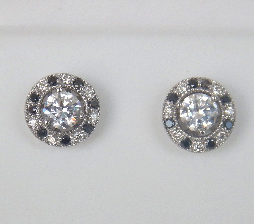 Black And White Diamond Earring Jackets | Kloiber Jewelers