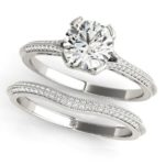 diamond engagement ring and matching wedding band