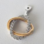 two tone gold diamond earring jacket