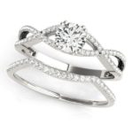 diamond infinity engagement ring and matching wedding band