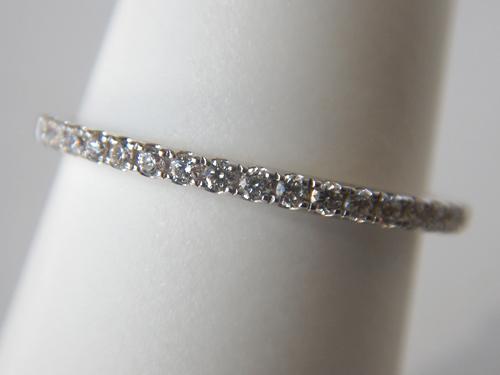 white gold diamond band