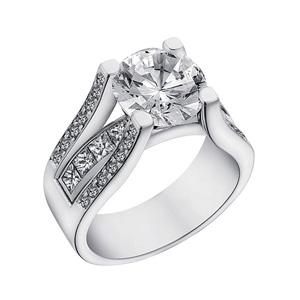 multirow diamond engagement ring