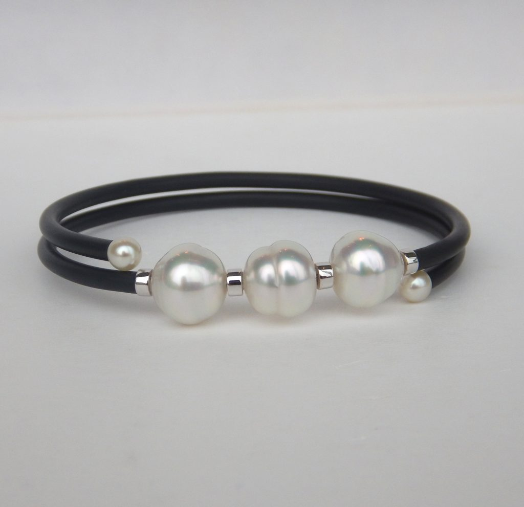 white listing il pearl gold simple bangle bracelet au bangles