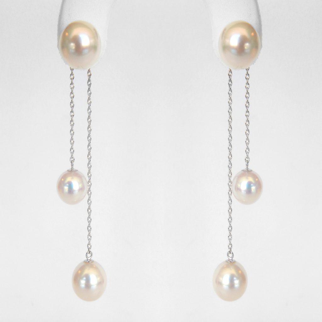 Akoya Pearl Dangle Earrings