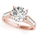 rose gold channel set engagement ring