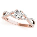 rose gold diamond infinity engagement ring