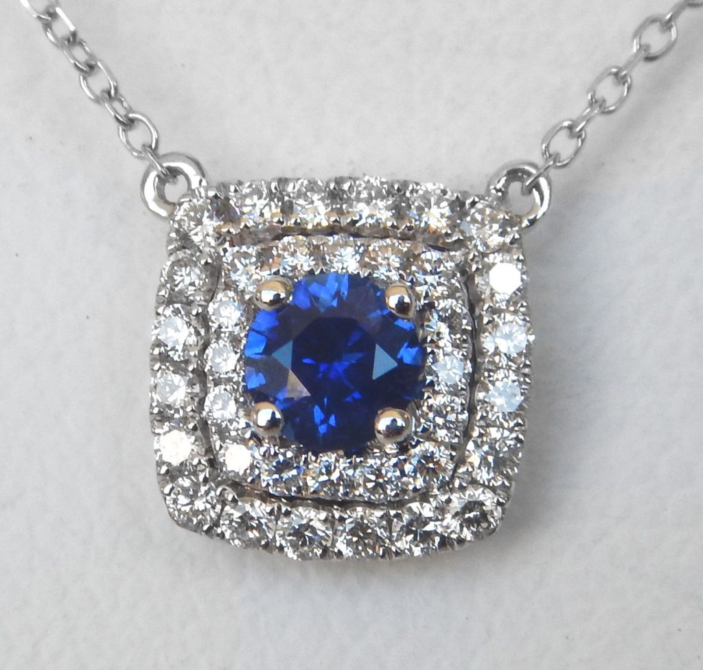 sapphire and diamond necklace kloiber jewelers. Black Bedroom Furniture Sets. Home Design Ideas