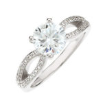 split shank diamond engagement ring