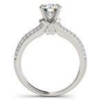 side view of split shank diamond engagement ring