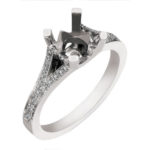 split shank diamond engagement ring