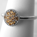 sterling silver citrine cluster ring