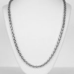 sterling silver braided necklace