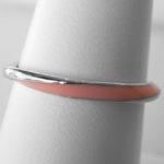 sterling silver pink enamel twist band