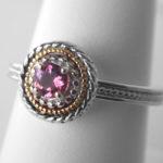 sterling silver pink tourmaline ring