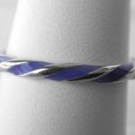 sterling silver purple enamel twisted ring