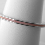 sterling silver thin pink enamel band