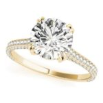 yellow gold diamond engagemen ring