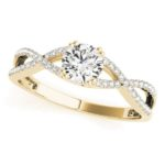 yellow gold diamond infinity engagement ring